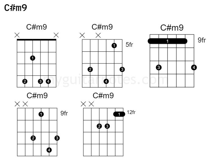c#m9 guitar chord